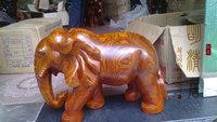 Wood carving elephant decoration rosewood elephant lucky elephant crafts rosewood elephant 30cm