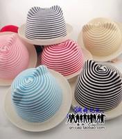 Free shipping! Summer stripe cat ears Hat Visor Hat