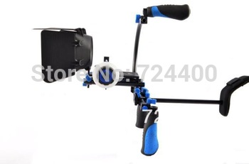 Steadycam Photography [drop Shipping] Dslr Rig Kit - Shoulder Mount Rl-02 + Follow Focus Matte Box for Dv / Hdv Camera 30200005