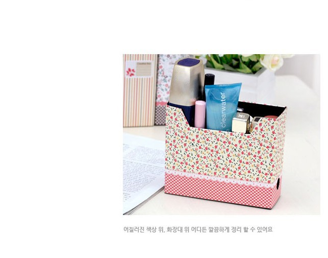 Fashion Japan And Korean Rural Shivering Flower Small Foldable Desktop Boxes, storage box/Free shipping(China (Mainland))