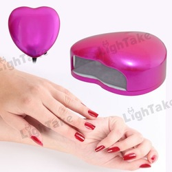 Free shipping 100-110V/60Hz Peach Heart Phototherapy LED Nail Salon Lamp for DIY Decoration Rose(China (Mainland))
