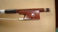 brazilwood bow stick, ebony frog, silver mounted violin bow model of SCFT880