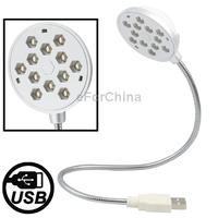 Metal Flexible Tube USB 12 LED Light for Laptop, Ultra Flexible Arm: 17 inch