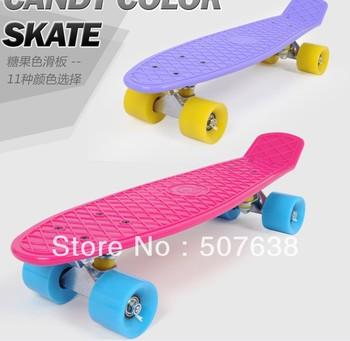four wheels child skateboard adult professional skate board penny fish plate plastic anti-seismic