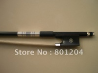 carbon fiber bow stick without gribs, ebony frog, Nickel copper mounted(silver color) violin bow model of SCFT93