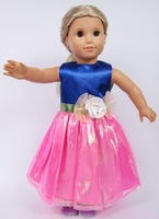"Free shipping! Cute 18"" American Girl Doll Princess dress Fashion/cheap toy clothes Baby/kid/child present/gift Many styles"