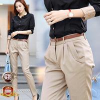 2013 spring plus size suit pants women's female casual pants harem pants trousers with belt