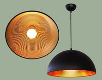 Pendant light restaurant lamp black white fashion brief