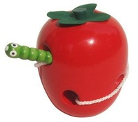 The worms eat apples - Anti - true apple baby educational toys free shipping