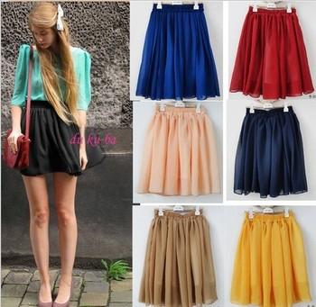 Freeshipping black/blue/red/pink/yellow patterns summer cheap short fashion skirt ...