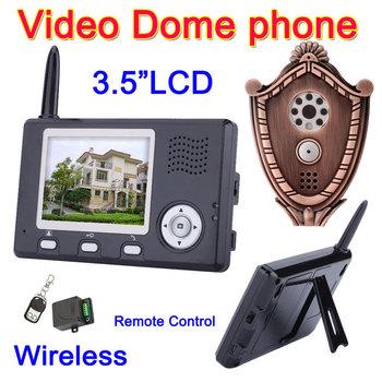 Wireless Video Door phone Intercom System 3.5 LCD IR Peephole Camera & Unlock