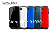 Hot sale  Free Shipping  latest  SPIGEN SGP Slim Armor Color case for Samsung Galaxy galaxy S4 I9500+Original Box