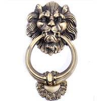 Chinese style lion head  handle classical  bronze zinc alloy ring for big gate Free shipping