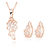18K Gold Plated Nickel Free Necklace Earrings Sets 2013 Latest Fashion Jewelry Set S053