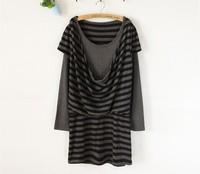 Faux two piece slim long-sleeve SENSHUKAI women's one-piece dress 2013