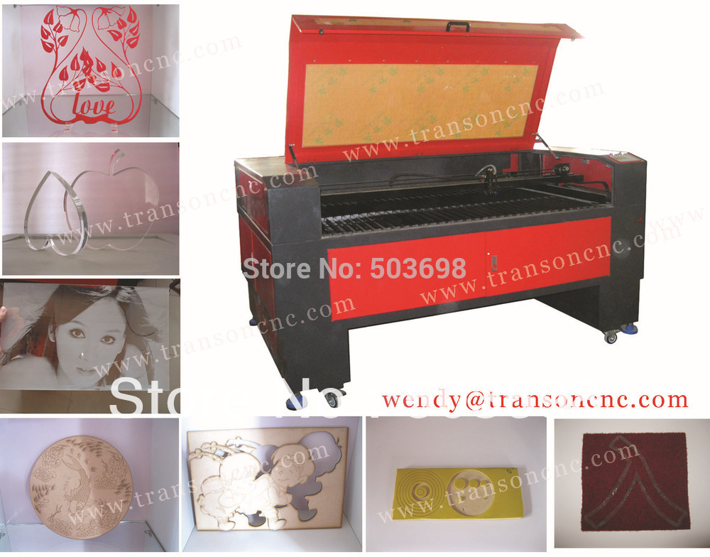 Free sea shipment Jinan Co2 laser cutting machinery for non-metal materials TS1610(China (Mainland))