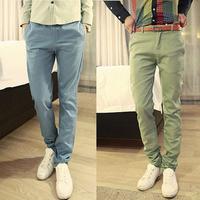 Az men's clothing autumn fashion 2012 METERS BONWE slim casual pants male elastic long trousers  Foreign trade tail single