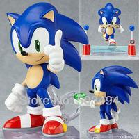 Cute Funny Blue Sonic the Hedgehog Cute Vivid Nendoroid Series PVC Figure Toy Free Shipping Retail