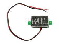 """10 Pcs/Lot DC2.5-30V Two Wires Digital Voltmeter 0.36"""" Red LED Display Voltage Measurement Meter Panel"""