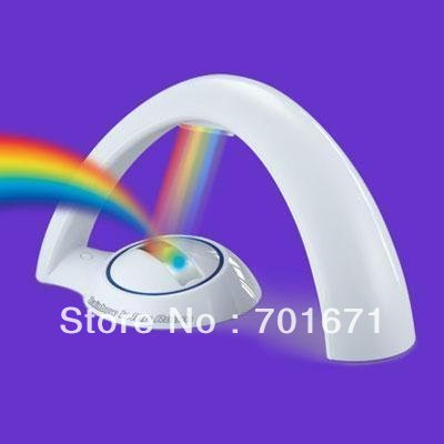 Wholesale LED Rainbow Projector Lamp Night Light Room Decoration,the best gift for kids. W88(China (Mainland))