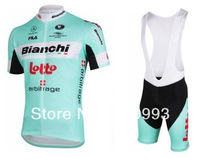 2013 Bianchi,New Arrival Hot Sales Short Sleeve Cycling Jersey +Bib Short Set/Cycle Wear/Sport Cloth/Racing Jackets/ Biking Gear