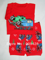 New design Cheap Children cotton pajamas with printed cartoon 3637