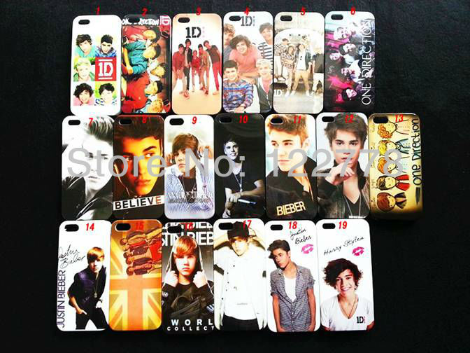 Popular Star Case Wholesale! Young Super Star Justin 1D Direction Design Back Cover Plastic Case for iPhone 5, DHL Free Shipping(China (Mainland))