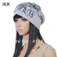 2013  Fashion Winter Sports Knitted Wool Hat for men and women Fashion Designer Dinter Cap 5 colors free shipping Light gray