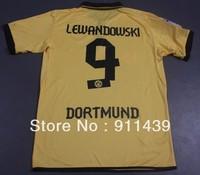 2012-2013 Borussia Dortmund #9 LEWANDOWSKI home jersey the top thailand quality soccer jersey
