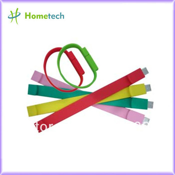 Fully capacity 1GB /2GB/4GB/8GB/16GB /32GB Promotional wristband USB Flash Drive HT-702  silicon usb bracelet