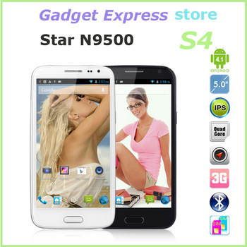 New N9500 (S4 I9500 phone) china galaxy mobile phone 5.0 inch 1280*720 IPS screen MTK6589 Quad Core 12MP camera WIFI GPS