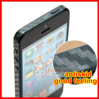 For iPhone 5 Bumper Sticker, New Arrival Carbon Fiber Bumper Sticker For iPhone5, 200pcs/lot, DHL free shipping