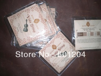 5 sets of Steel Metal Alloy Violin Strings