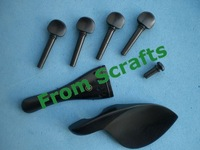 1 set of ebony violin fitting(4/4) plus 10 pcs violin bridges and 1pc of  ebony violin fingerboard