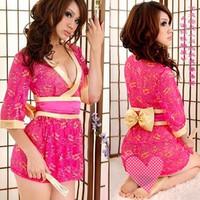 Costume lace kimono cos sexy sleepwear bathrobe costumes photo service  wholesale clothing