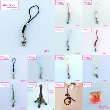 """24PCS 90mm/3.54"""" Cellphone/Mobilephone/Mobile Chains/Straps/Key Chains Charms Cords W/Clasps DIY Accessories 10 Colors /L1"""