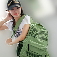 Canvas casual backpack school bag lovers backpack green