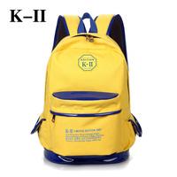 Double-shoulder canvas bag middle school students school bag backpack computer backpack travel backpack canvas backpack