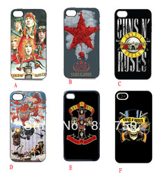 New Durable Snap on hard case for iphone 4/4S/5 rock roll band guns roses slash axl rose music(China (Mainland))