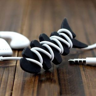 2013 items  wholesale 1pc Free Shipping Earphones fish cable winder bone collector mobile phone accessories
