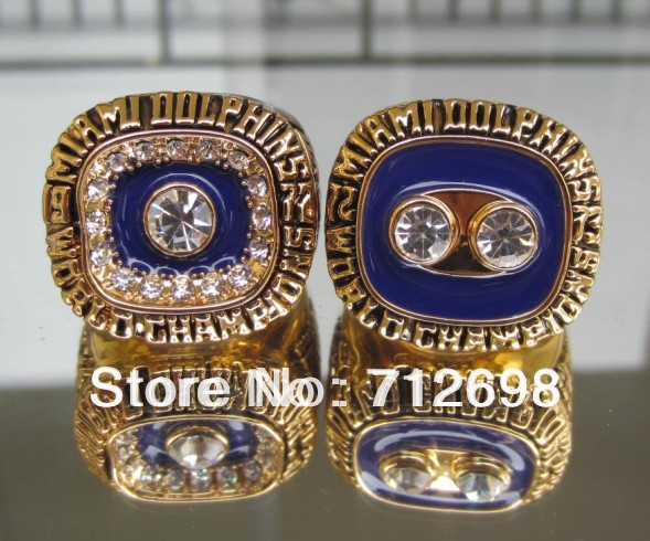 1972 1973 Miami Dolphins Super Bowl Championship Ring best gift for fans Size 11 in stock Free shipping(China (Mainland))