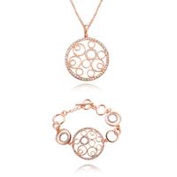 18K Gold Plated Nickel Free Necklace Bangle/Bracelet Sets 2013 Latest Fashion Jewelry Set S066
