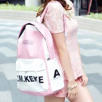 Preppy style school bag lovers backpack 2013 casual leather backpack man bag women's handbag