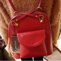 Mushroom hot-selling quality exquisite PU women's fashion handbag shoulder bag backpack multi-purpose backpack