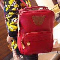 High quality PU women's bear handbag korean casual backpack bag hot backpack