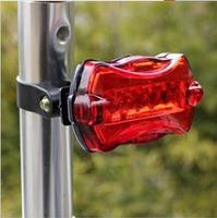 Bicycle rear light 6 Mode 5 led Tail Rear Safety Warning Flashing Bike Bicycle Flashlight Light Lamp[Z10000201]