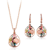 Hot sale 18K GP Jewelry sets,Fashion Jewelry sets,necklace & earrings Jewelry sets