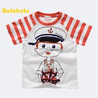 Balabala BALABALA children's clothing male children short-sleeve T-shirt cartoon clothing