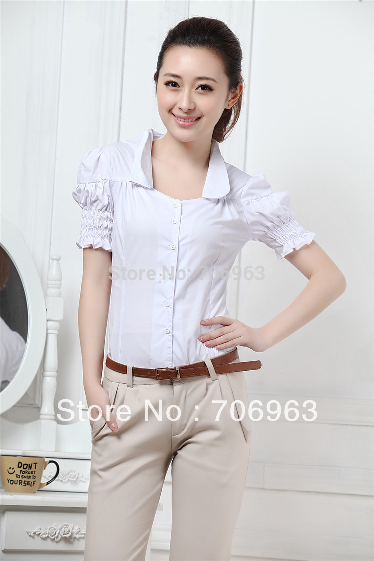 Model  BlouseWomenBlousesShirtsWorkWearLadiesOfficeShirtsTopsHalf