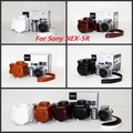 Free shipping Leather Camera Case Bag with for SONY NEX--5R
